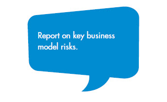 Report on key business model risks.