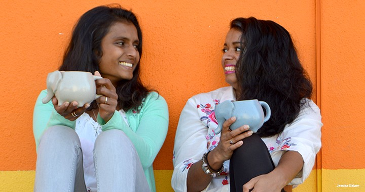 Rianne Sujeewa (left) and Nishanthi Lambrichs co-founded Beleaf & Co., a South African importer of sustainable and socially responsible teas.