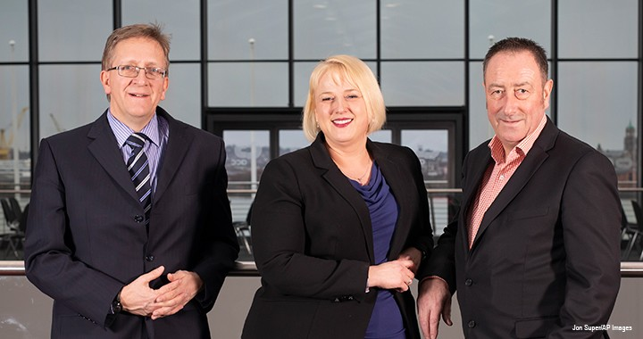 Martin Brewer, ACMA, CGMA (left); Suzanne Ibbotson, ACMA, CGMA; and Dave Willis, FCMA, CGMA, are all from the UK public sector and have found benefits in an initiative to create finance communities.