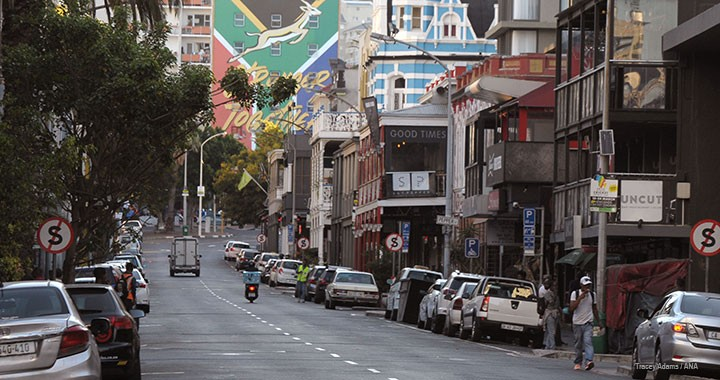Long Street is empty in the middle of the coronavirus pandemic in Cape Town, South Africa on 22 March 2020.