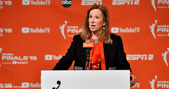Cathy Engelbert, CPA, the retired CEO of Deloitte and the current commissioner of the Women's National Basketball Association in the US