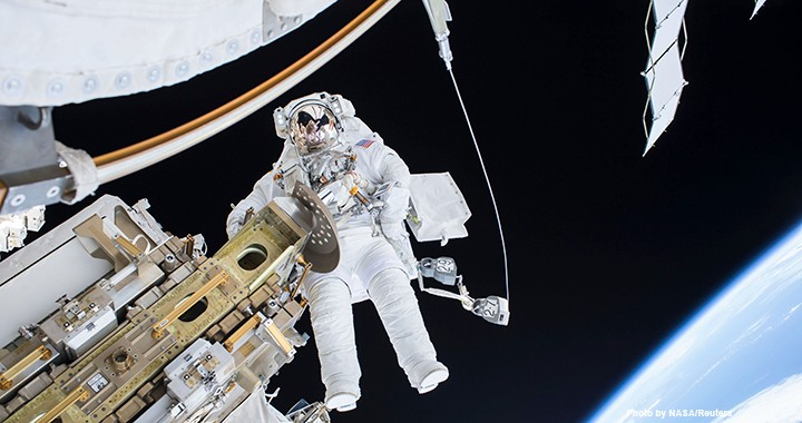 US National Aeronautics and Space Administration (NASA) astronaut Tim Kopra performs a spacewalk outside the International Space Station in December 2015. NASA's predecessor agency, the National Advisory Committee for Aeronautics (NACA), was created in 1915. The space agency was one of seven organisations whose longevity was studied in recent research.