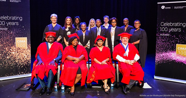 The CIMA delegation and Cert. BA students at the Gauteng graduation ceremony in Pretoria, South Africa, in March 2019.