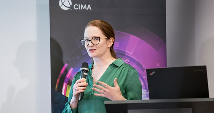 Rebecca McCaffry, FCMA, CGMA, speaks at Money Talks events in Warsaw and Krakow in Poland.
