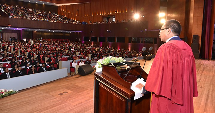 The CIMA president spoke at a convocation in Colombo in his native country of Sri Lanka early this year.