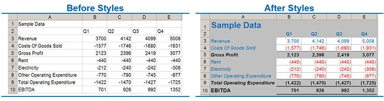 How to make prettier, more readable Excel spreadsheets - FM