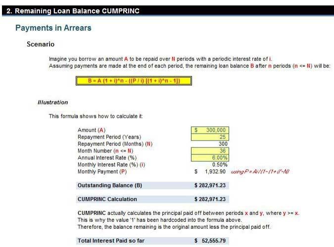 interest rate formula excel