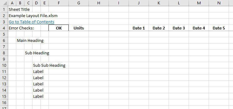 Functional beauty: Laying out a proper Excel model - FM